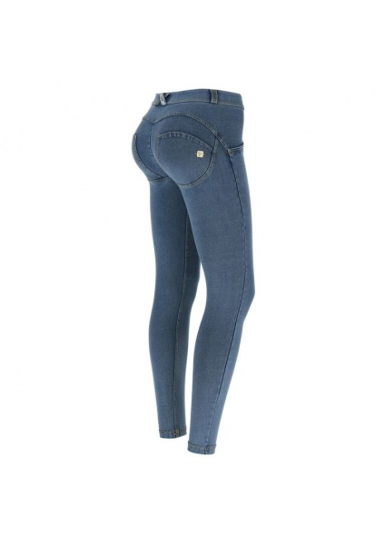 FREDDY WR.UP denim sv.modré so žltým šitím 7/8 Regulár