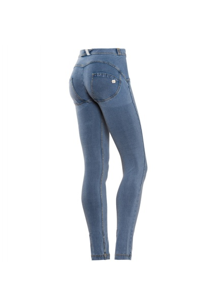 FREDDY WR.UP denim sv. modré so žltým šitím REGULAR